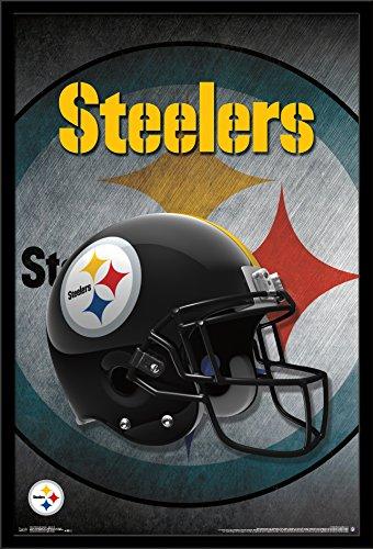 Trends International Wall Poster Pittsburgh Steelers Helmet, 22.375 x 34