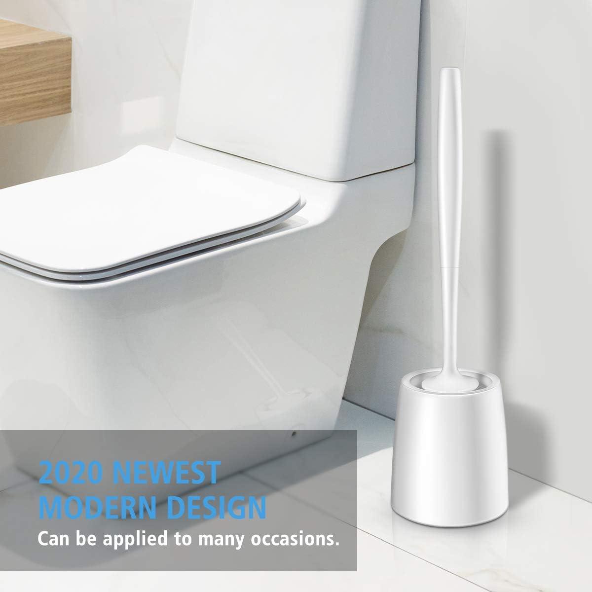 Modern Design Toilet Brush and Holder 2 Pack ,White Toilet Bowl Brush for Your Bathroom Toilet
