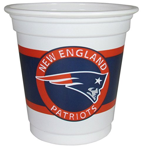 NFL New England Patriots 18 Count Game Day Mini Cups, White, 2 oz (Game Day Cup)