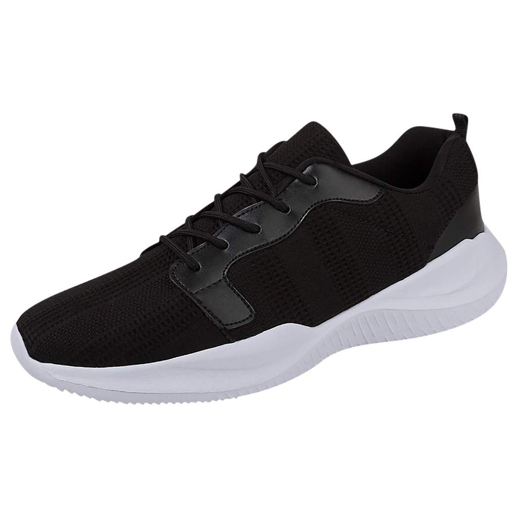 SSYongxia❤ Classic Sneakers for Women Men Lightweight Walking Running Gym Sneaker for Casual Black