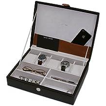 Tech Swiss TS7180 Valet Organizer Leather Black