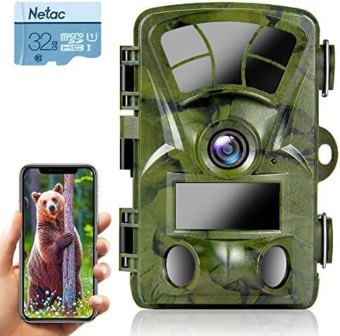 Ctronics Trail Camera WiFi 4K 20MP Wildlife Game Camera with Night Vision Motion Activated Waterproof IP66 for Outdoor Deer Hunting Wildlife Monitoring(32GB SD Card Included)