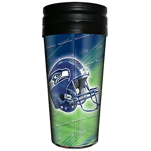 (NFL Seattle Seahawks 3D Metallic Thermal Mug, 16-ounce)