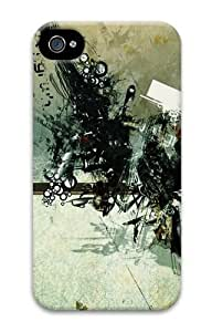 abstract photoshop effect PC Case for iphone 4S/4