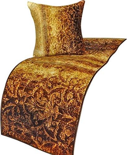ゴールドランナー、45 x 225 cm con funda de almohadaデザイナー王ベッドスカーフゴールドベルベット衾 Mughal B07CPY3V4V キング 45_x_225_cm ベッドランナー 枕カバー付き|A4. ゴールド/褐色 A4. ゴールド/褐色 キング 45_x_225_cm ベッドランナー 枕カバー付き