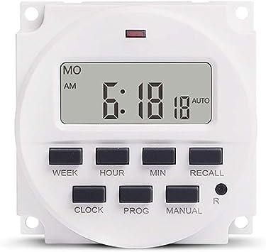 Interruttore temporizzato programmabile LCD temporizzatore per interruttori