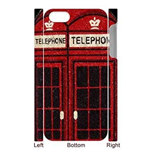 SpecialCasedesign Personalized Red Vintage London British Telephone Booth iPhone 5 5S Case Best Durable Back Cover by icecream design