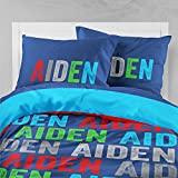 Personalized Bedding Custom Bedspread Boys Bold Name