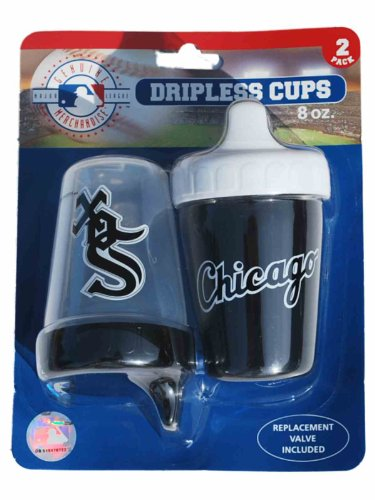 Chicago White Sox Haddad Accessories 2-Pack 8 oz. Black Dripless Sippy Cups
