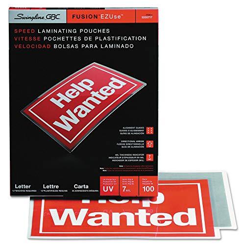 (GBC 3200717 Ezuse Thermal Laminating Pouches, 7 Mil, 11 1/2 X 9, 100/box )