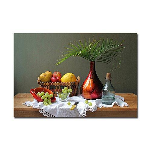 lotuslife Art Bedruckte Leinwand Gemälde Topfpflanzen und Früchte Ölgemälde Kunstwerk für Wohnzimmer Dekoration, Unframed(38x26Inch)