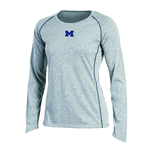 - Champion NCAA Women's Long sleeve Crew Neck Raglan T-Shirt, Michigan Wolverines, Small, Gray Heather