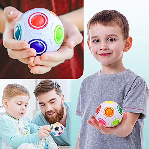 UPSTONE Fidget Toys Bundle Sensory Toys Set-Liquid Motion Timer/Rainbow Magic Ball/Stretchy String/Infinity Cube Stress Relief Hands Toys for Children and Adults Therapy Toys for ADHD Anxiety Autism by UPSTONE (Image #2)