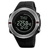 SKMEI LED Digital Compass Alarm Sport Watch Silicone Military Army Quartz Men Wristwatch (#1)