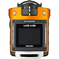 RICOH waterproof action camera WG-M2 4K video super-wide-angle 204 degrees housing unnecessary waterproof 20m impact 2m 03801 (Orange) (International Model)