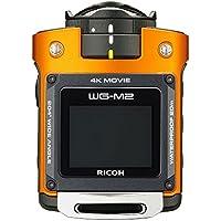 RICOH waterproof action camera WG-M2 4K video super-wide-angle 204 degrees housing unnecessary waterproof 20m impact 2m 03801 (Orange) (International Model)