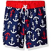 Little Me Baby Boys' Swim Trunks, Anchor, 6-9M
