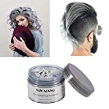 #6: MOFAJANG Silver grey Hair Color Wax, Natural Hairstyle Wax 4.23 oz, Temporary Hairstyle Cream for Party, Cosplay, Halloween, Daily use, Date, Clubbing (Silver Grey)