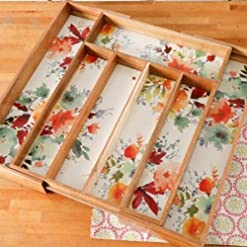 Kitchen The Pioneer Woman Willow Expandable Cutlery Tray silverware organizers