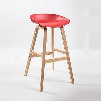 Diseño de Moda Inicio Bar Silla Alto Taburete Minimalista ...