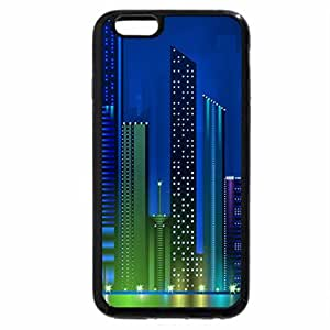 iPhone 6S / iPhone 6 Case (Black) Bright Lights of the City