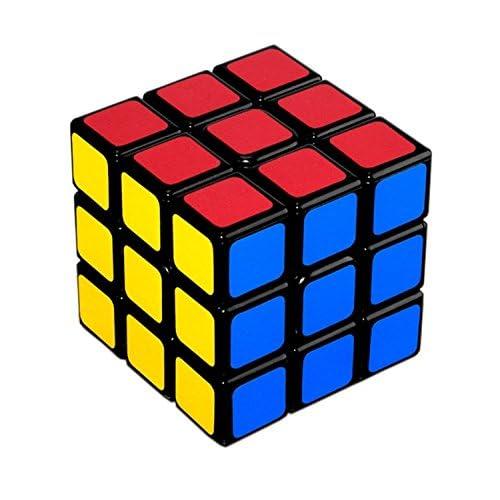 JIAJIA YL 3x3 Cube de Vitesse Magique Classique Professionnel 60mm Jeux Educatifs Scientifiques (Black)