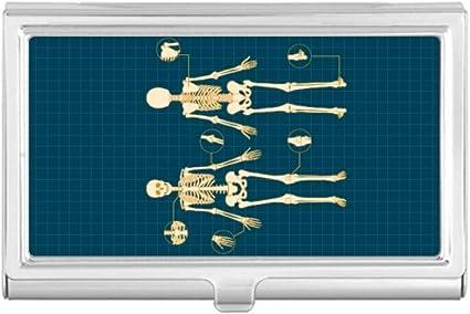 Skeleton Illustration - Funda para tarjetas de visita, diseño de esqueleto humano: Amazon.es: Oficina y papelería