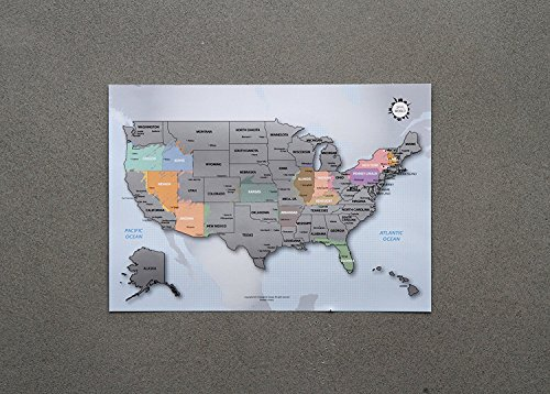 Personalized Scratch off United States America product image