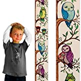 Growth Chart Art | Owl Growth Chart | Wooden Height Chart for Measuring Kids, Boys & Girls | Owls