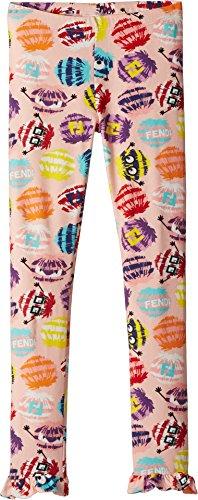 Fendi Kids Girl's Fur Monster Print Leggings (Little Kids) Multi - Clothes Fendi Kids