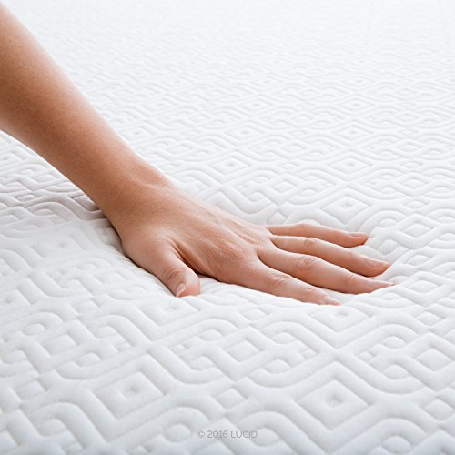 LUCID 6 Inch Gel Infused Memory Foam Mattress - Firm Feel - Perfect for Children - CertiPUR-US Certified - 10 Year warranty - Twin by Lucid® (Image #6)