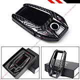 Cuztom Tuning Premium Black Carbon Fiber CASE Cover FITS for 2017-2019 BMW TOUCHSCREN Display Key FOB Remote