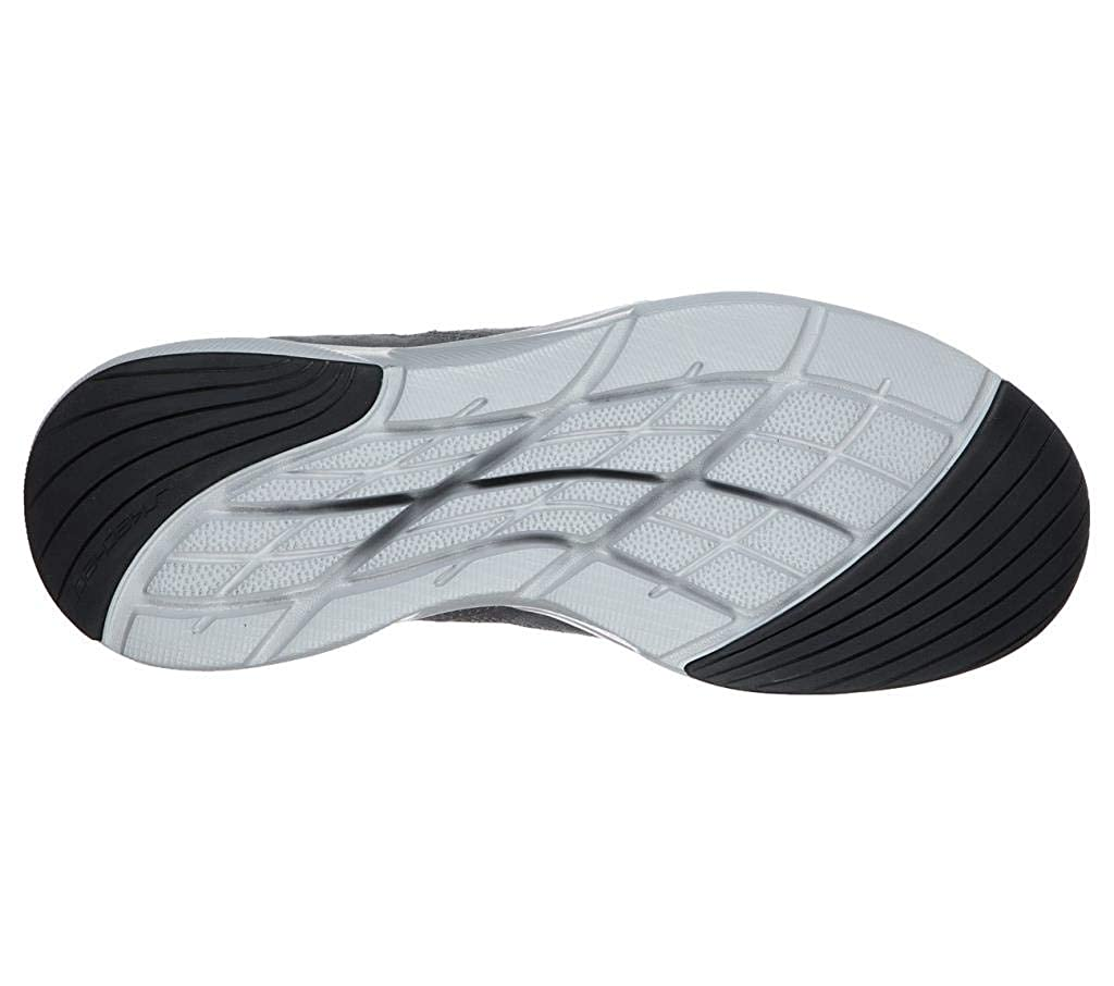 Skechers Herren Meridian-Ostwall Sneaker, braun, 39 EU Holzkohle