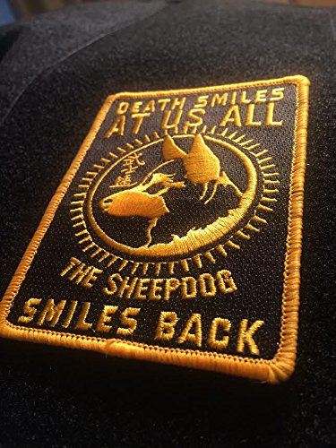 Amazoncom American Sheepdog Death Smiles Morale Patch Sports