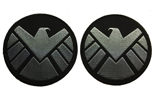 Movie Loki Costume (Avengers Movie Shield Costume Shoulder Patch Set of 2 - By Patch Squad)