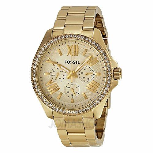 c12946a46040 Fossil Fósiles Cecile Multifunción Champagne Dial Dorado Damas Reloj  AM4482  goldia  Amazon.es  Relojes