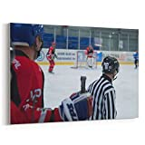Westlake Art Canvas Print Wall Art - Anaheim Ducks on Canvas Stretched Gallery Wrap - Modern Picture Photography Artwork - Ready to Hang - 12x18in (a51z)