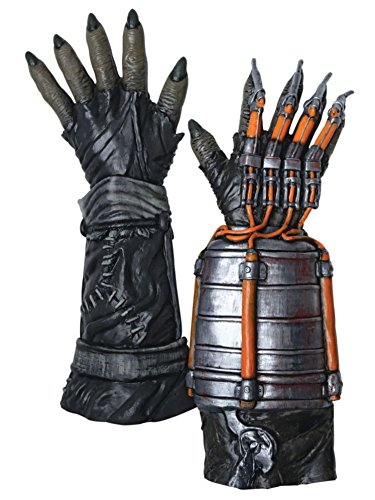 Rubie's Costume Co Men's Arkham Knight Deluxe Scarecrow Gloves, Multi, One Size (Deluxe Costume Gloves)