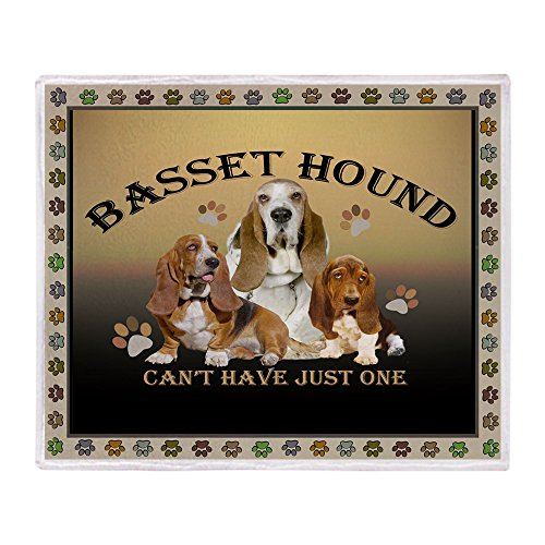 CafePress Basset Hound Can't Have Just Soft Fleece Throw Blanket, 50