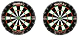 Winmau Diamond Plus Tournament Bristle Dartboard with Staple-Free Bullseye for Higher Scores and Fewer Bounce-Outs (2-Pack)
