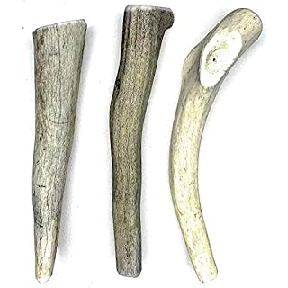 Perfect Pet Chews Economy Antler Dog Chew - Grade B-C, All Natural, Organic, Long Lasting Treats - Made from Naturally Shed Antlers in The USA - Medium Treat - 3-Count