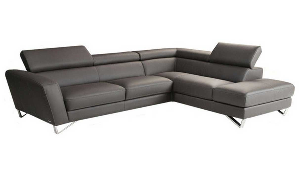 Amazon.com: J&M Furniture Sparta Grey Italian Leather ...