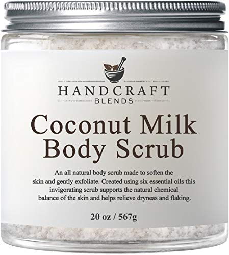 (100% Natural Coconut Milk Scrub - HUGE 20 OZ - A Deep Nourishing & Exfoliating Body Scrub Made With Dead Sea Salt and Essential Oils - Best Body Scrub for Cellulite, Stretch Marks, and Varicose Veins)