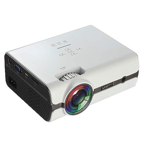 JYL Mini proyector, proyector de películas portátil de 1600 ...