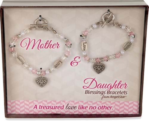 AngelStar 19242 Blessings Bracelets, 6-1/2 to 7-Inch, Mother and Daughter, Set of 2