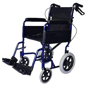 Ligera silla de ruedas de tránsito plegable con frenos de ...