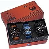 Armado Mens Analogue Blue & Black Dial Watch (Ar-621251, Pack Of 3)