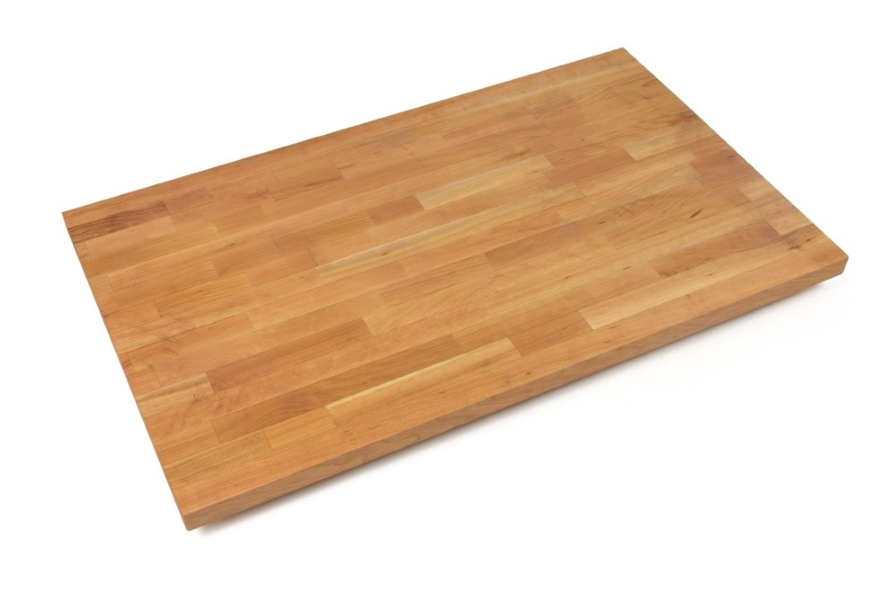 John Boos CHYKCT4825-V Cherry Kitchen Counter Top with Varnique Finish, 1.5'' Thickness, 48'' x 25''