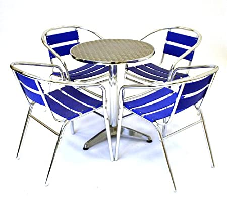 Bistrotisch Mit 4 Stühlen.Alu Bistrotisch Mit 4 Stühlen Aluminium 1 Tisch Aluminium