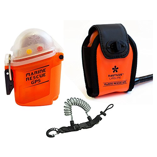 Nautilus LifeLine Marine GPS Rescue Radio and Neoprene Pouch w/ free Coil - O-ring Red Sea